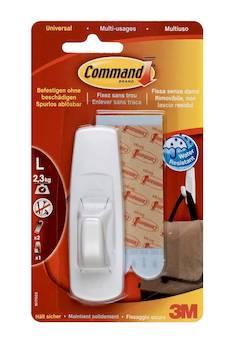 Siirtokoukku Command 3M 1koukku+ 2 palaa - Kiinteistövarusteet  - 141123 - 1