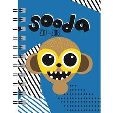 Sooda 2017-2018 sininen A6 - Ajasto kalenterit - 152753 - 1