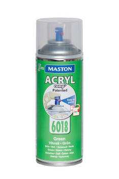 Spraymaali acrylcomp ral6018 400ml - Maalaustarvikkeet - 136223 - 1