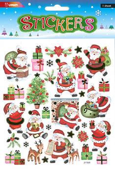 Tarra-arkki joulupukki 2 - Tarrat ja tarrakirjat - 153493 - 1