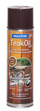 Teak oil spray 500ml - Maalaustarvikkeet - 136393 - 1