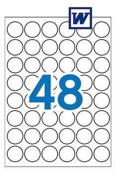Tulostustarra 30mm/A4 APLI pyöreä - Tulostus- ja kopiotarrat - 147913 - 1