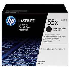 Värikasetti HP 55X CE255XD laser (2kpl) - HP laservärikasetit ja rummut - 128903 - 1