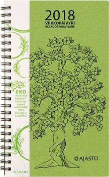 Viikkopäivyri/veckodatumvisare eko, vihreä - Ajasto kalenterit - 152573 - 1
