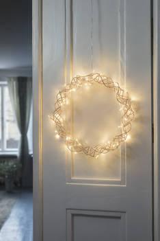 Airam lily metallikranssi 30cm - Jouluun valot,koristeet,tekstiilit - 153943 - 1