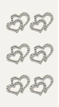 2 hearts timantti tarra-arkki , kirkas - Askartelutarvikkeet - 137234 - 1