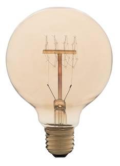 Airam 60w e27 antique pallo-95 pallok. lyhtyl. 240v hiililankalamppu - Varalamput ja loisteputket - 134504 - 1