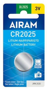 Paristo Airam CR2025, 3V - Paristot - 139494 - 1