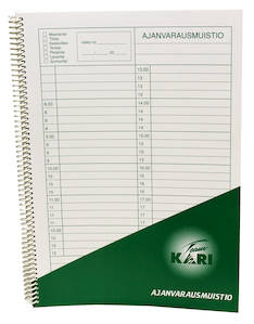 Ajanvarauskirja A4  KARI - Lomakkeet - 102334 - 1