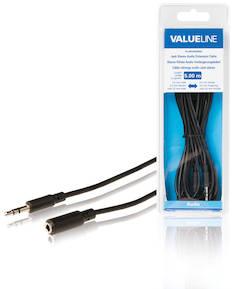Audio jatkokaapeli 3.5mm uros-naaras 5m - Kaapelit ja kaapelikourut, jatkojohdot - 139134 - 1