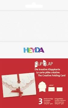 """Clipclap-korttisetti """"wolke"""", 3 kuorta, korttia valkoinen - Askartelutarvikkeet - 137314 - 1"""