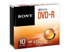 DVD-R SONY 4,7GB Slim Case - DVD-levyt - 150984 - 1