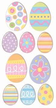 Easter eggs -tarra-arkki - Askartelutarvikkeet - 137284 - 1