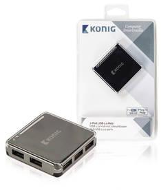 HUB USB König 7-porttinen - Muut it- ja ergonomiatarvikkeet - 151144 - 1