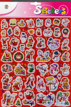 Jättitarra joulu - Tarrat ja tarrakirjat - 143414 - 1