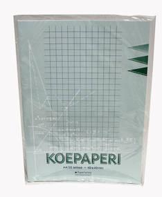 Koepaperi A4/32 10mm PAPERIPISTE - Koe- ja konseptipaperit - 102004 - 1