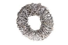 Kranssi pajua 30cm harmaa - Jouluun valot,koristeet,tekstiilit - 144634 - 1