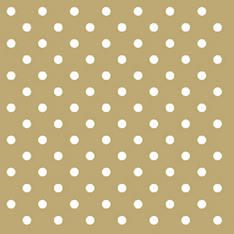 Lautasliina 25x25cm dots gold fsc mix - Servietit ja lautasliinat - 143774 - 1