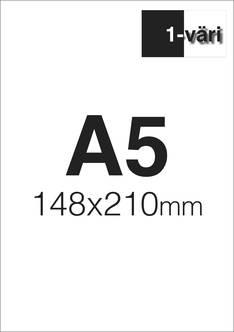 Liimalehtiö A5 1/0 - Painetut liimalehtiöt - 151654 - 1