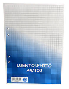 Luentolehtiö A4/100 7x7mm PAPERIPISTE - Avo- ja muut lehtiöt - 102014 - 1