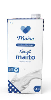 Maito kevyt 1L MAIRE UHT - Maidot ja kermat - 129074 - 1