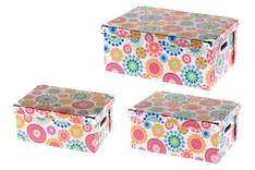 Säilytyslaatikko 30x25x15cm kukka - Säilytyslaatikot ja -korit  - 146094 - 1