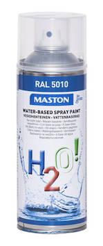 Spraymaali h2o! ral5010 400ml - Maalaustarvikkeet - 136264 - 1