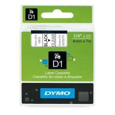 Tarranauha DYMO 6mmx7m 43610 - Tarra- ja kohokirjoitinteipit Dymo - 104054 - 1