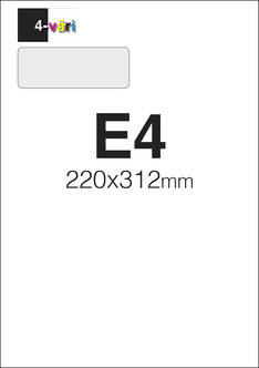 Kirjekuori E4 4/0 - Kirjekuoret - 151704 - 1