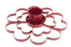 Kuusenjalka sydänkuvio Punainen - Jouluun valot,koristeet,tekstiilit - 154094 - 1