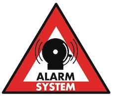 ALARM SYSTEM Tarra 123 X 148mm - Muut erikoisteipit - 141195 - 1