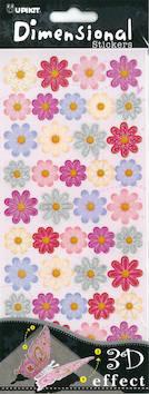 3D-tarra värilliset kukat - Tarrat ja tarrakirjat - 147885 - 1