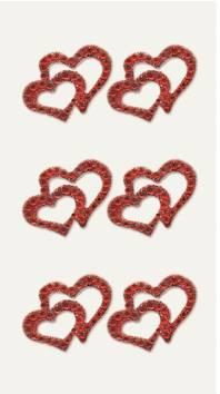 2 hearts timantti tarra-arkki , punainen - Askartelutarvikkeet - 137235 - 1