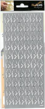 Ääriviivatarra tuplasydän - Tarrat ja tarrakirjat - 136015 - 1
