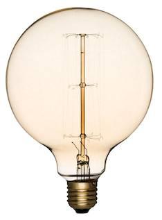 Airam 60w e27 antique pallo-125 pallok. lyhtyl. 240v hiililankalamppu - Varalamput ja loisteputket - 134505 - 1