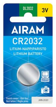 Paristo Airam CR2032, 3V - Paristot - 139495 - 1