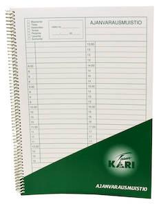 Ajanvarauskirja A5 KARI - Lomakkeet - 102335 - 1