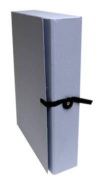 Arkistokotelo A4/8cm nappi+nauha - Arkistointikannet - 128305 - 1