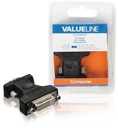 DVI - VGA sovitin adapteri Valueline - Kaapelit ja kaapelikourut, jatkojohdot - 146365 - 1