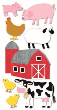 Farm animals -tarra-arkki - Askartelutarvikkeet - 137275 - 1