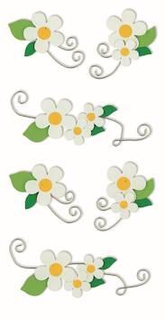 Flowers-tarra-arkki, valkoinen - Askartelutarvikkeet - 137265 - 1