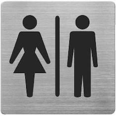 Infotaulu WC NAISET/MIEHET - Valko- ja ilmoitustaulut - 144925 - 1