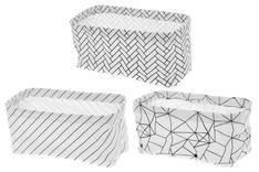 Kangaskori Stripes 4living suorakulma - Säilytyslaatikot ja -korit  - 152795 - 1