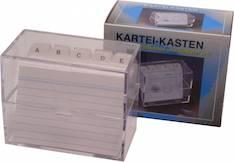 Kortistolaatikko A7 kirkas muovi - Esijärjestäjät,merkintä-johtok ja laatik - 112665 - 1