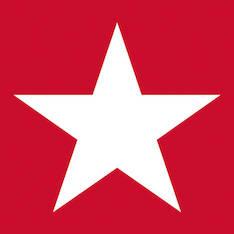 Lautasliina 33x33cm star red fsc mix - Servietit ja lautasliinat - 143805 - 1
