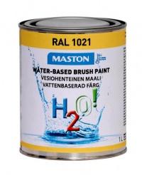 Maali H2O! 1L RAL1021 MASTON - Maalaustarvikkeet - 146905 - 1