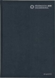 Päivämuistio/dagsmemorial, sidottu, tummanharmaa - Ajasto kalenterit - 156085 - 1