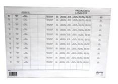 Palkkalista A4 3-osainen (jäljentävä) - Lomakkeet - 102245 - 1