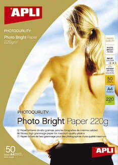 Photopaperi A4 280g APLI Bright Pro - Valokuvapaperit - 127135 - 1