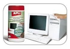 Puhdistuspyyhe APLI antibakteerinen - ATK:n puhdistusaineet ja liinat - 121315 - 1